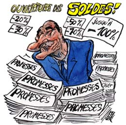 CHIRAC solde ses promesses